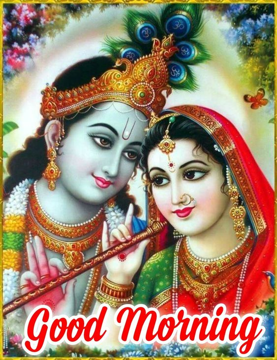 Radha Krishna Good Morning God Image Pic