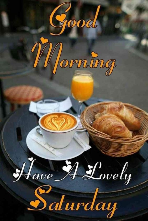 Saturday Good Morning Breakfast Lovely Image