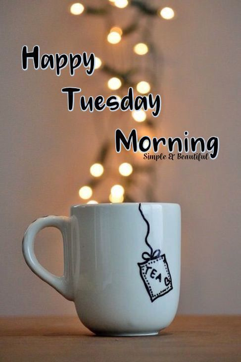 Tuesday Good Morning Coffee Cup Image