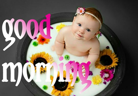 Very Happy Good Morning Baby Image Cute
