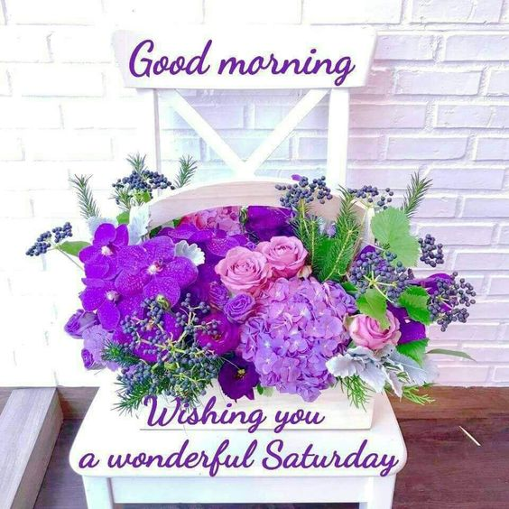 Wonderful Saturday Good Morning Wishing Image
