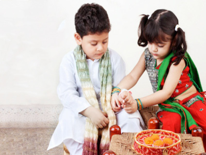Little Brother Sister Rakhi Festivel Image Photo