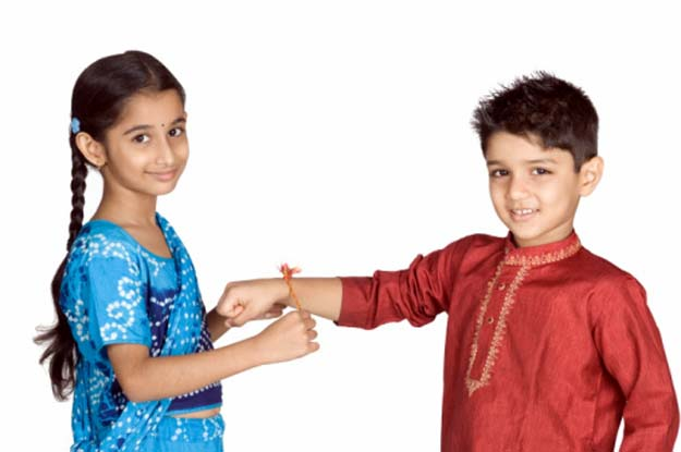 Raksha Bandhan Celebration Photo at Home Image