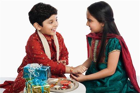 Raksha Bandhan Lovely Image Photo Indian Brother Sister