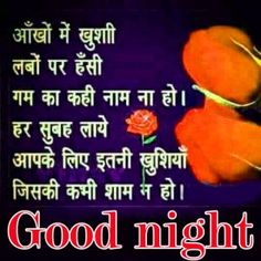 Hindi Good Night Shayai Wishes Images