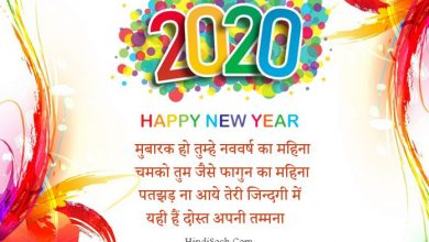 Happy New Year Wish 2020 Image Message in Hindi