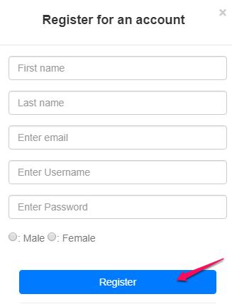 Click Signup