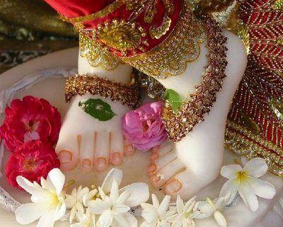 Bhagwan Krishna Lotus Feet Photo