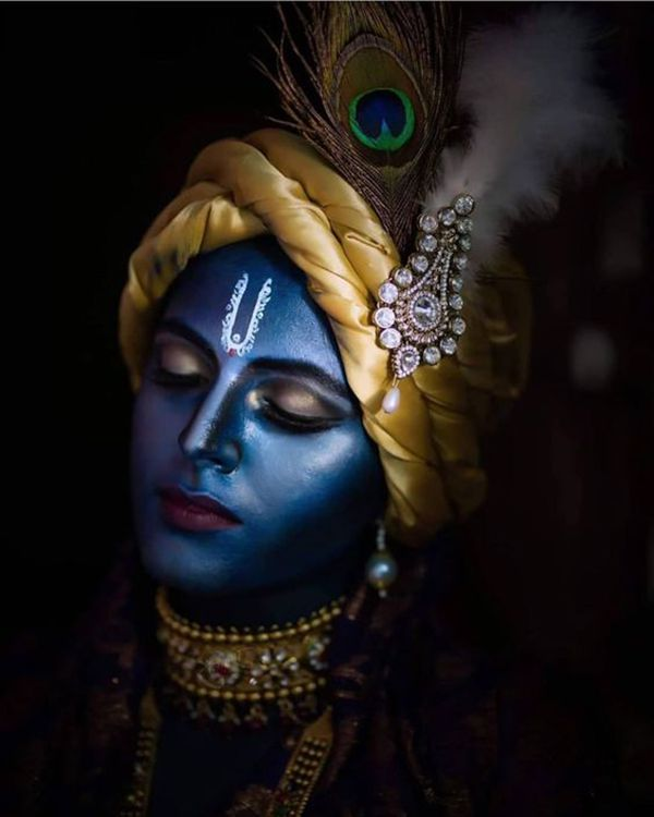 Black Image of God Shri Krishna