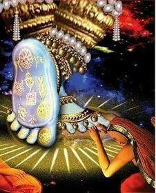 Foot of Lord Shri Krishna God Picture