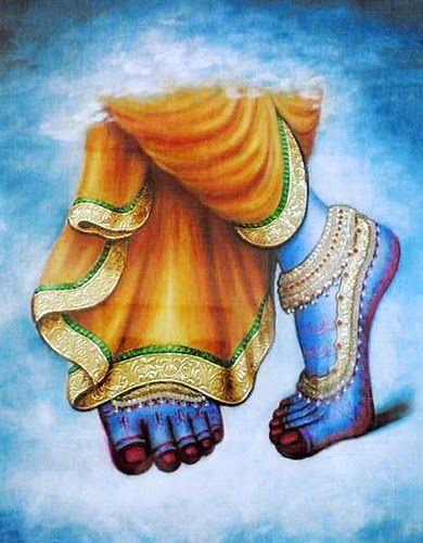 Krishna Blue Foot God Krishna Feet Photo