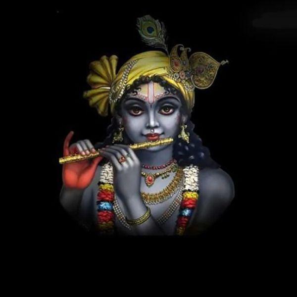 Krishna God Black Picture Bhagwan Black Krishna