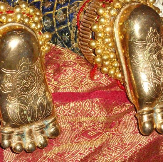 Krishna God Golden Foot Picture