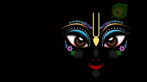 Krishna HD Black Poster Image