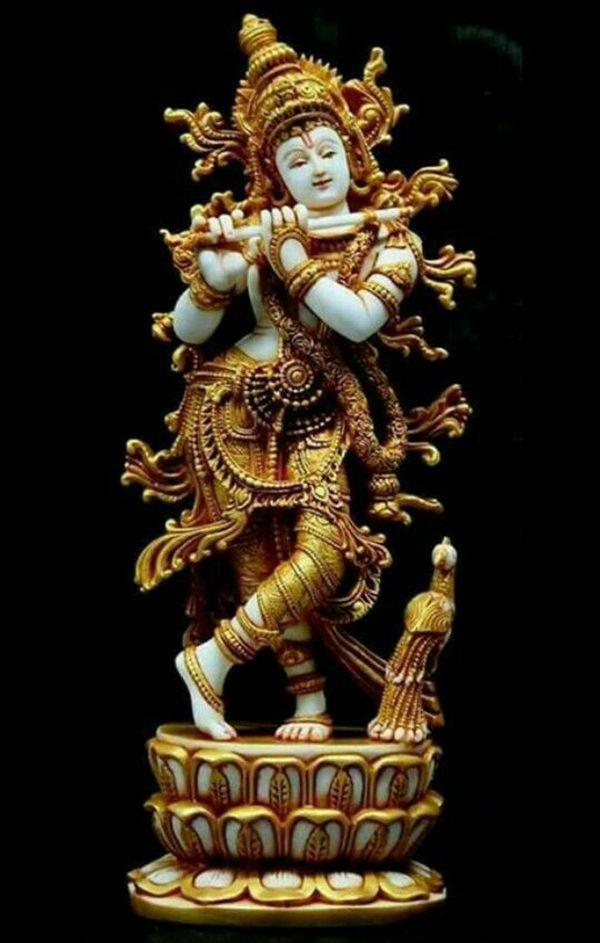 Lord Krishna Black Background Image