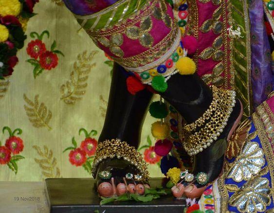 Lord Krishna Black Foot Photo for Bhakt