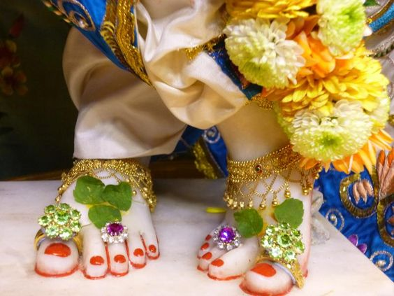 Lord Krishna Lotus Foot Picture Image