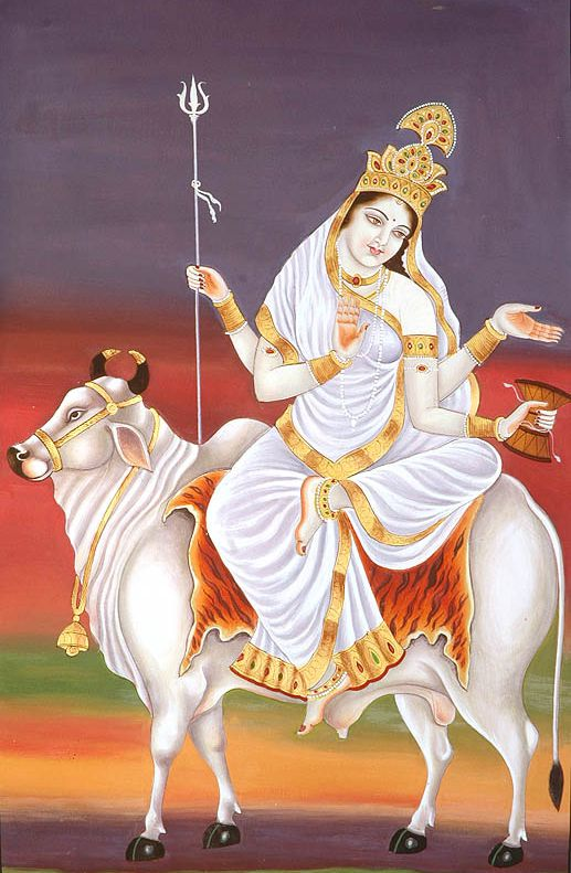 Shailputri Maa Picture First Avatar of Maa Durga