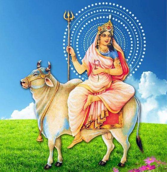 Wallpaper for Shailputri Maa in Navratri