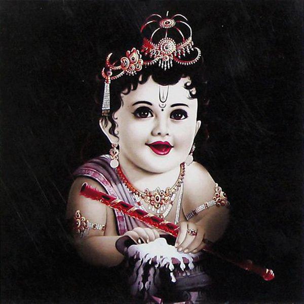 Wallpaper of Black Little Krishna