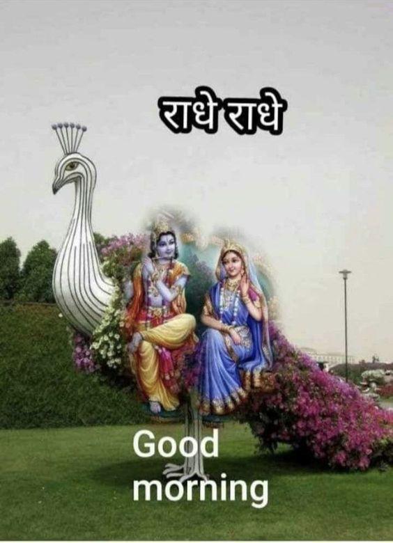 Good Morning Shri Radhe Radhe Krishna Bhagwan Pic