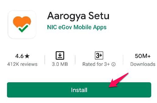 Install Aayogya Setu App