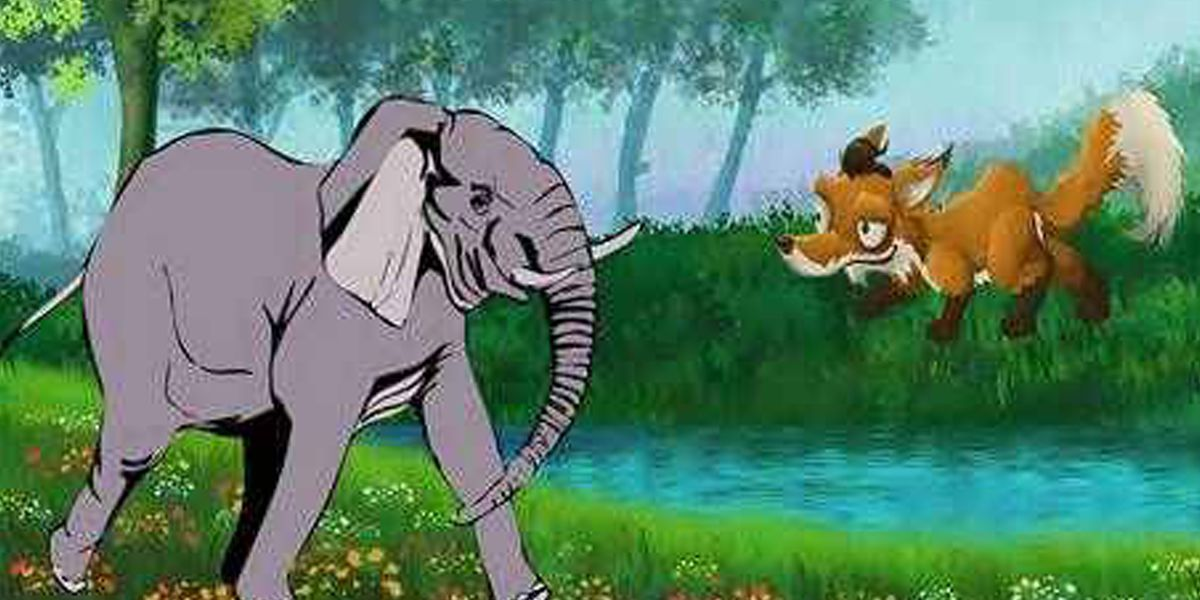 Elephant jackal moral story in hindi