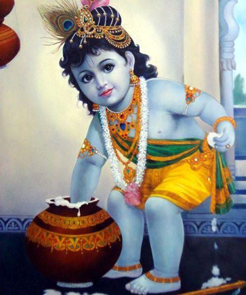 Little Krishna Pic for Janmashtami