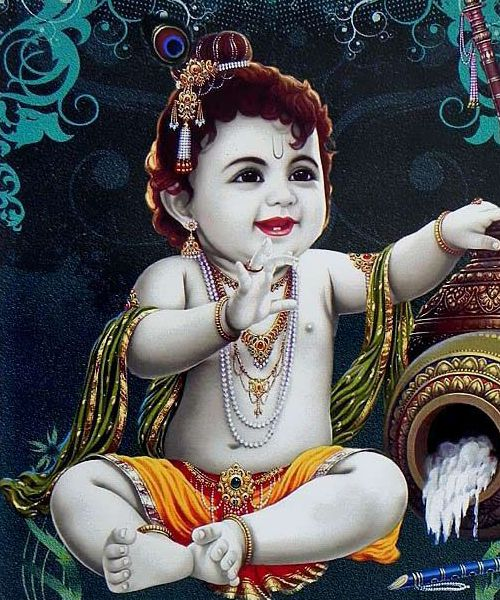 Little Krishna Playing