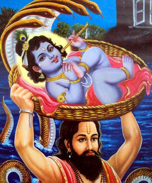 Lord Krishna Birth in Gokul in Night with Nanad Baba
