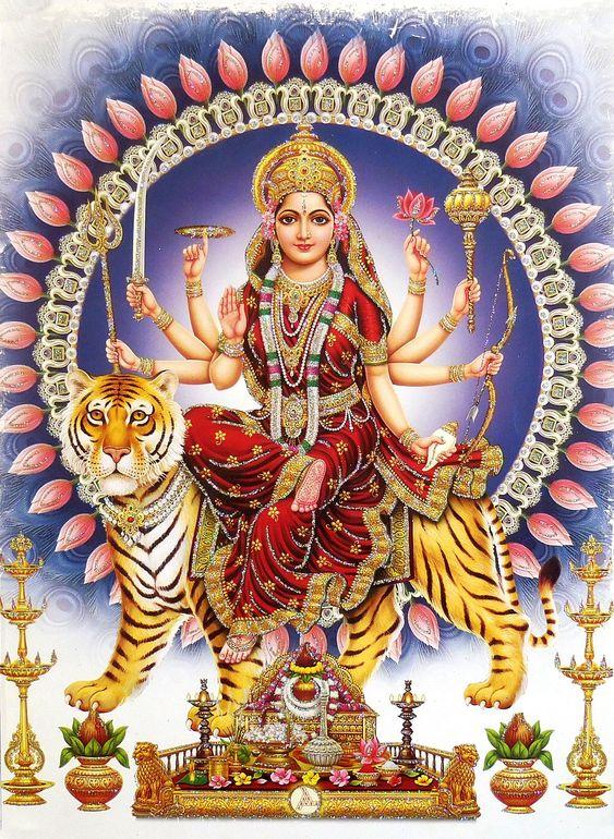 Durga Maiya Devi Art Photo HD