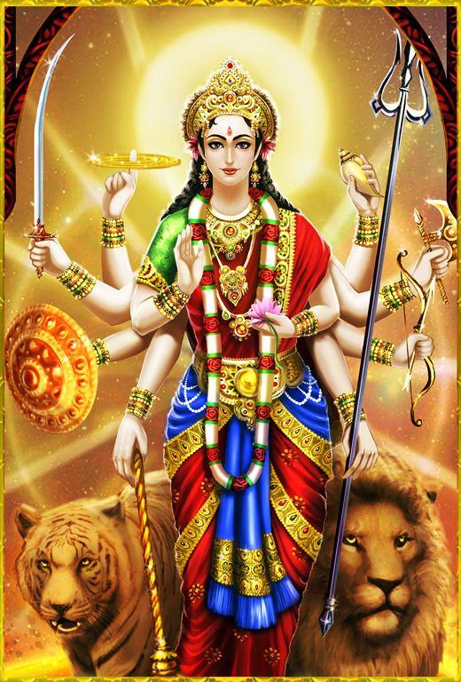 Durga Maiya Ji Ki HD Photo Dekhe