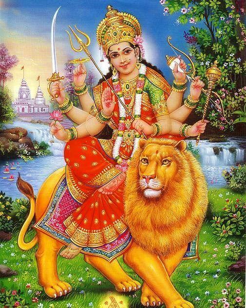 Durga Maiya Ki Painting Download Ke Liye Photo