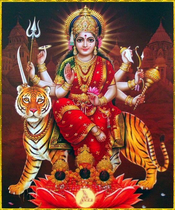 Durga Maiya Ki Photo with 8 Hands