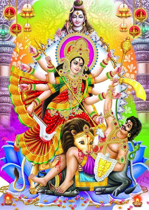 Durga Maiya Mahishashur Vadh Photo HD New Wallpaper