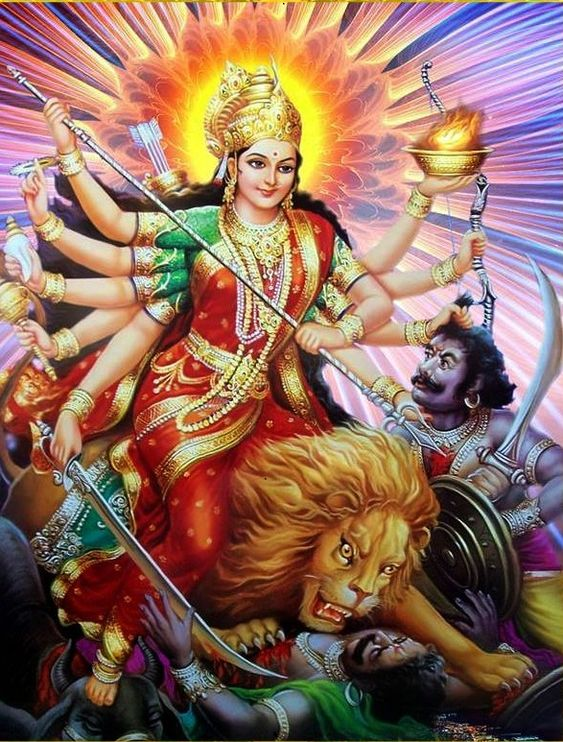 Durga Maiya Ne Mahishasura Ko Mara Photo HD Pic