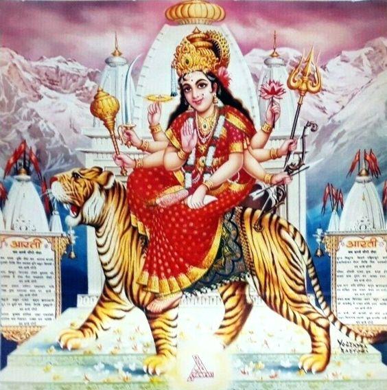 Durga Mata Ji Poster in HD for Huge Desktop Wallpaper