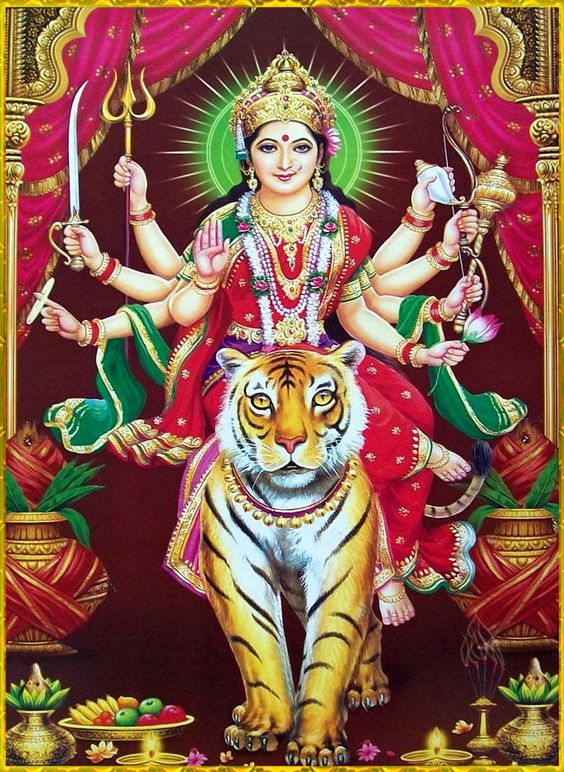 Durga Mata Ji Tiger Photo HD for Navratri for Instagram