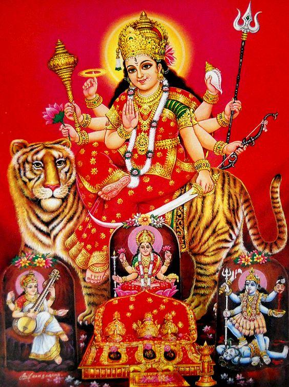 Durga Roop Me Maiya Ji Ki Photo Sherawali Maa