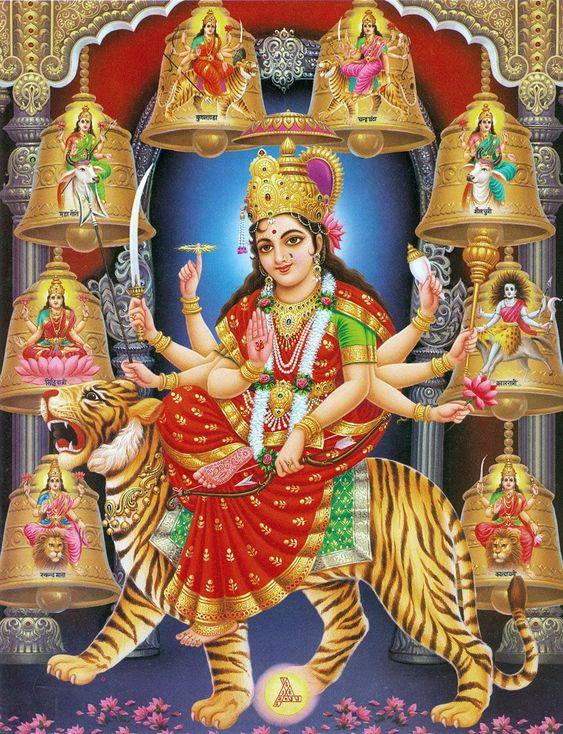 Durga Shakti Devi Mata Ji Photo in 9 Roops Free Download Best