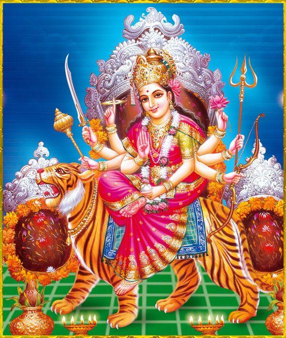 Fresh Durga Mata Ji HD Photo for iPhone Wallpaper