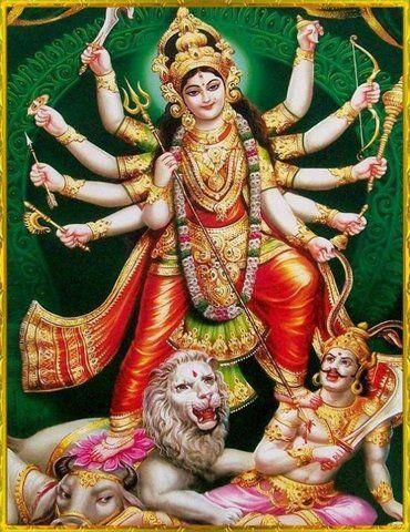 Goddess Durga Maiya Ki Shakti Photo with Killing Mahishasura