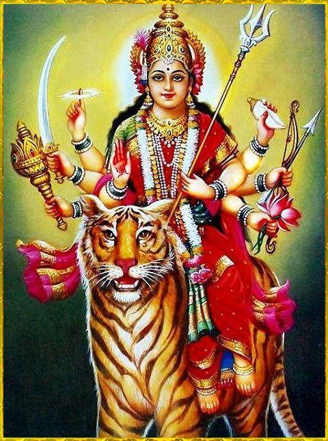 Hindu Devi Mata Ji Blessing Photo for Navratri New Download