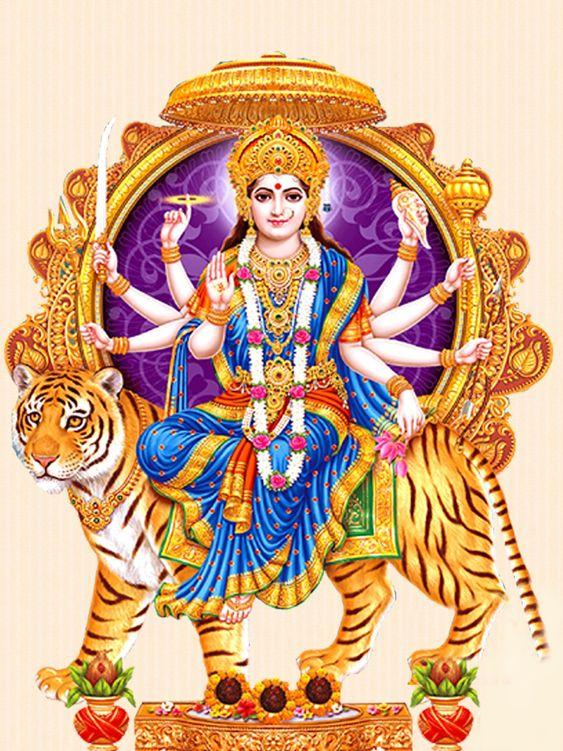 Hindu Durga Mata Ji Goddess HD New Mobile Wallpaper for Phone DP