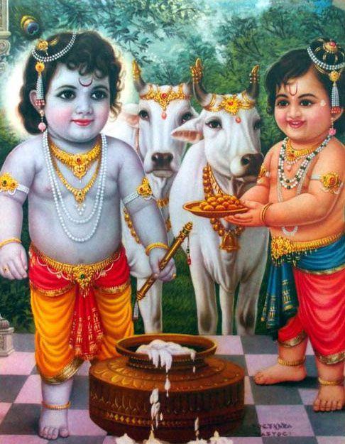 Krishna Kanha Balram Brother Picture Happy Krishna