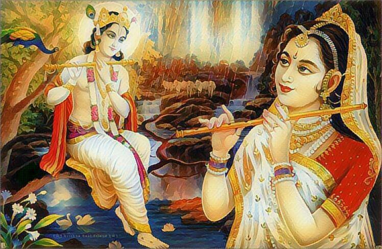 Lord Krishna Wallpaper with Her Dear Radha Rani Vrindavan Download Best HD