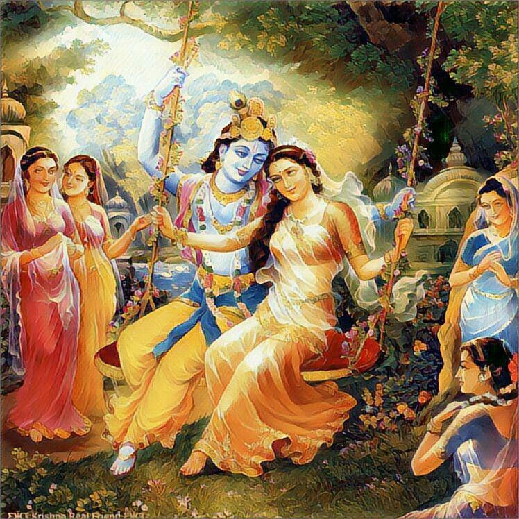Love Incarnation Radha Krishna Divine Love Wallpaper Download HD