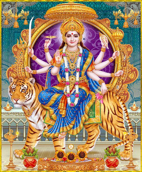 Mahagauri Durga Maiya Ki New Photo Download Kare