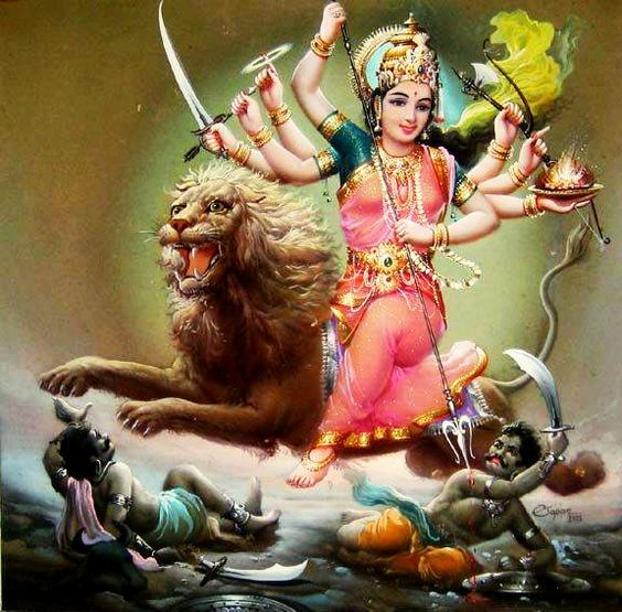 Mata Ji Killing Mahishashura Picture in Hd for Mobile DP