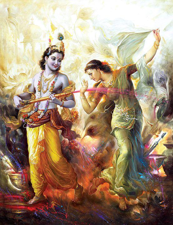 Radha Krishna Holi Wallpaper HD Download